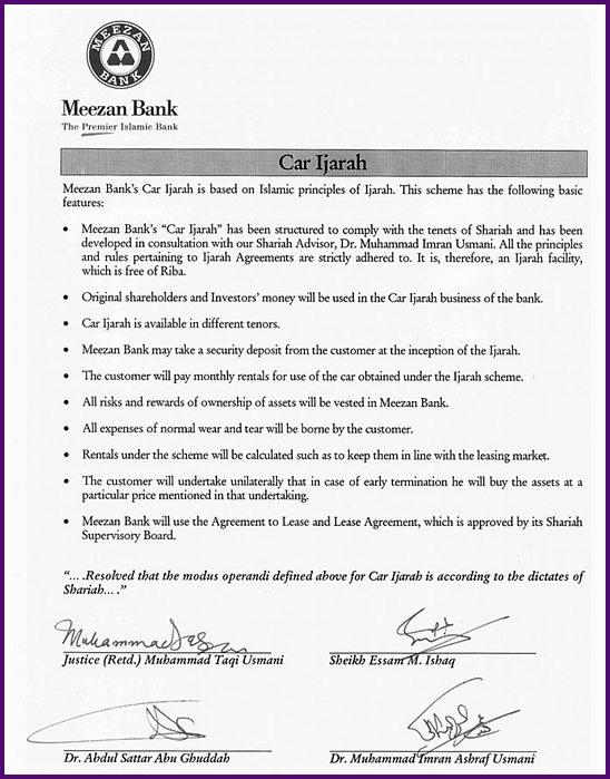 Car Ijarah Riba Free Car Financing Meezan Bank